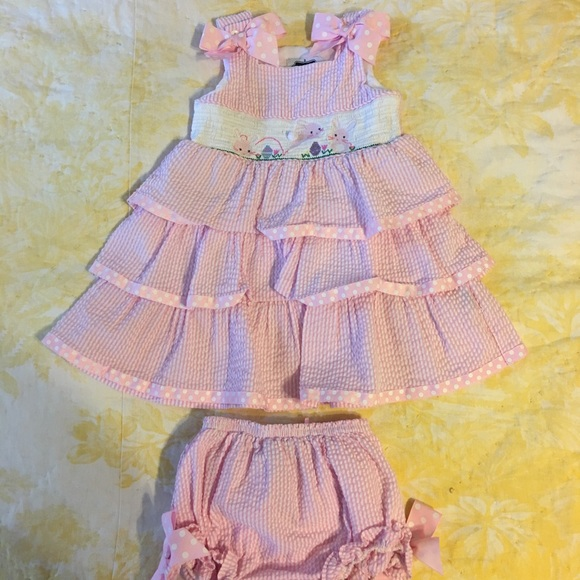 Mud Pie Other - 2T Smocked Easter set